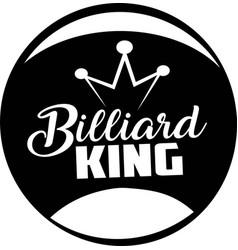 Billiard king on white background vector