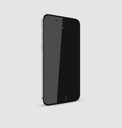 black modern smartphone with blank screen isolated vector image