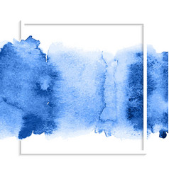 Blue abstract watercolor stain vector