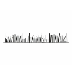 Books on the shelve vector