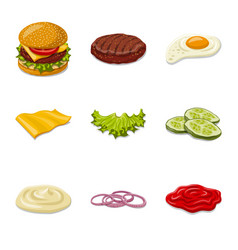 burger and sandwich icon vector image
