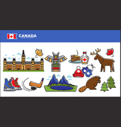 Canada travel destination advertisement with vector