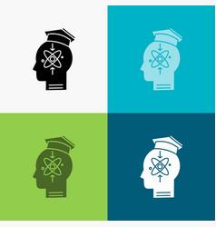Capability head human knowledge skill icon over vector