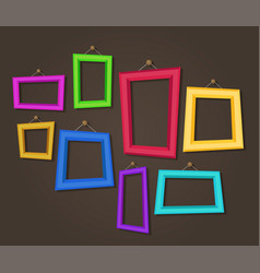 Cartoon photo picture painting drawing frame vector