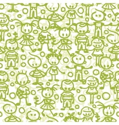 Children playing seamless pattern background vector image
