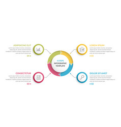 circle infographics - four elements vector image