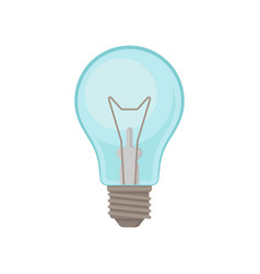 Classic transparent light bulb incandescent lamp vector