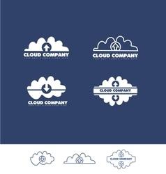 Cloud data storage hosting logo vector