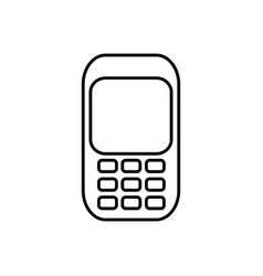 Communication cellphone call icon vector