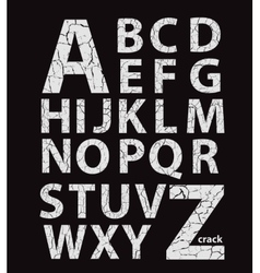 Craquelure alphabet vector image