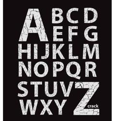 Craquelure alphabet vector