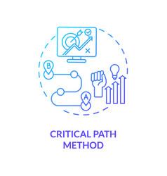 Critical path method concept icon vector
