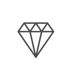 diamond line icon vector image