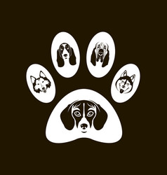 Dog footprint image vector