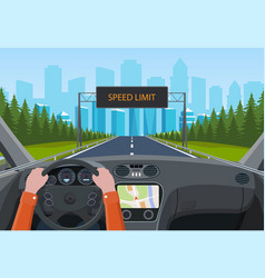 Drive safely concept vector