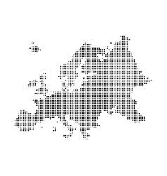 Europe pixel map square dot pixel europe vector