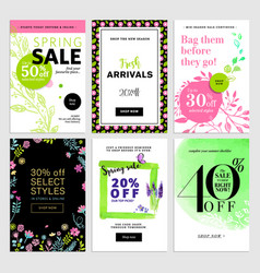 eye catching spring sale banners set vector image