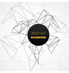 Geometrical background with black lines vector image