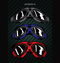 glasses wind mask logo graphic design vector image