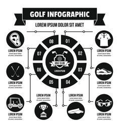 Golf infographic concept simple style vector