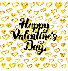 happy valentines day handwritten card vector image