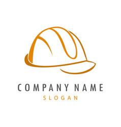 Hard helmet logo vector