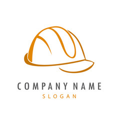 hard helmet logo vector image