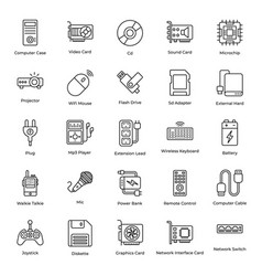 Hardware devices line pack vector