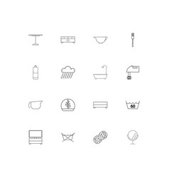 Home appliances and equipment simple linear icons vector