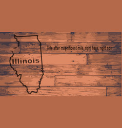 Illinois map brand vector