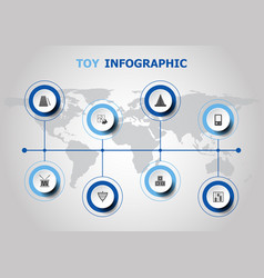 infographic design with toy icons vector image