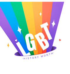 Lgbt history month square vector