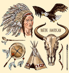 native american vector image