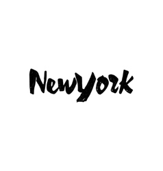 New York - hand drawn calligraphy and lettering vector image