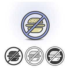 no fast food flat icon vector image