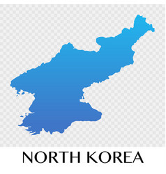 North korea map in asia continent design vector