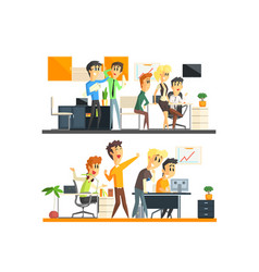 Office team two collection vector