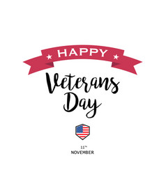 on a veterans day design vector image