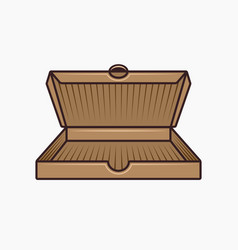 open cardboard box for pizza vector image