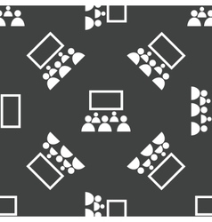 People in front of screen pattern vector image