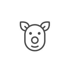 Pig line icon vector