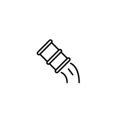 pollution oil icon vector image