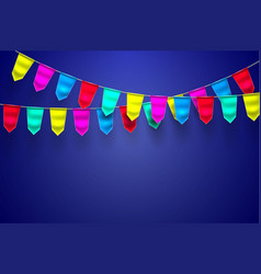 realistic bunting 3d flag decoration vector image
