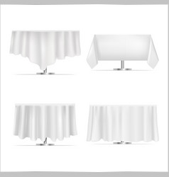 realistic detailed 3d white blank restaurant vector image