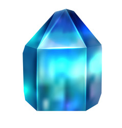 realistic image of a precious stone is apatite vector image