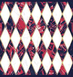 red granite mosaic geometric seamless pattern vector image