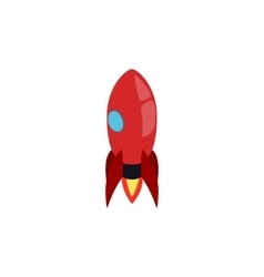 Red rocket icon isometric 3d style vector image