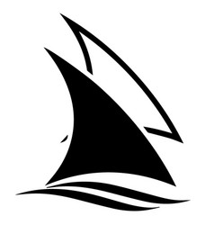 Sail boats icon logo vector