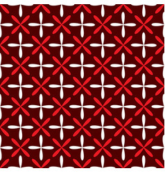 seamless abstract grid art dark white red pattern vector image
