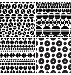 seamless backgrounds set vector image